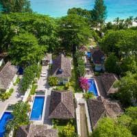 Vista aérea Banyan Tree Seychelles