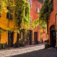 Bairro de Gamla Stam, na cidade velha - Estocolmo, Suécia.
