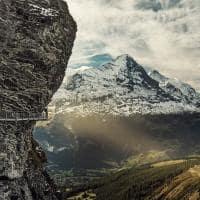 Grindelwald cliff walk vista