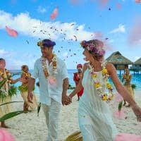 Casamento polinésio, Conrad Bora Bora Nui