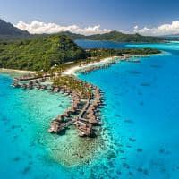 Vista aérea no Conrad Bora Bora Nui