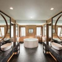 Banheiro no Conrad Bora Bora Nui