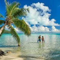 Casal em lua de mel no Conrad Bora Bora Nui
