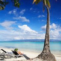 Praia no Sofitel Moorea, Tahiti