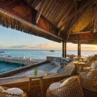 Área externa do Upa Upa Lounge Bar, Conrad Bora Bora Nui