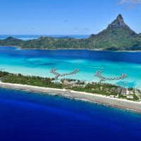 Vista aérea Intercontinental Bora Bora