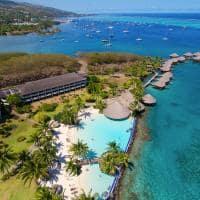 vista aerea piscina intercontinental resort tahiti