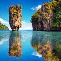 Atração turística ilha James Bond, Phuket, Tailândia