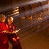 Pequenos monges tailandia