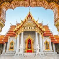 Ponto turístico Templo Wat Benjamaborphit, Bangkok, Tailândia