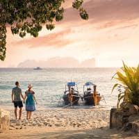 Por do sol phi phi island