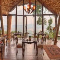 Área comum no andBeyond Ngorongoro