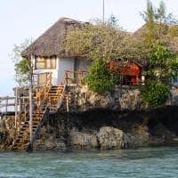 Ponto turístico restaurante The Rock, Zanzibar, Tanzânia