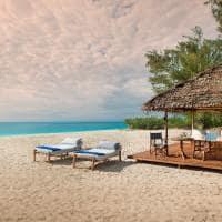 Praia privada andBeyond Mnemba Island Lodge, Zanzibar