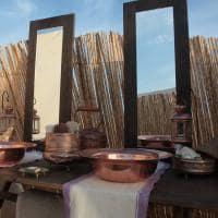 Lavatório no acampamento do Saara - Tunísia.