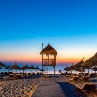 Praia em resort de Hammamet - Tunísia.