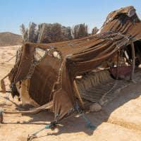 Tenda berbere em Matmata, Tunísia.
