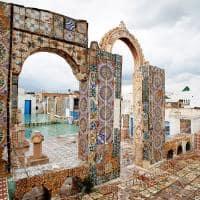 Terraço de Medina - Tunis, Tunísia.