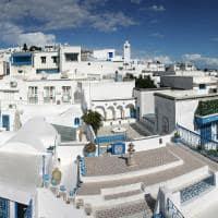 Vista de Sidi Bou Said - Tunísia.