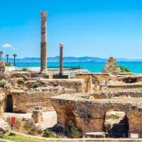 Vista panorâmica da antiga cidade de Cartago - Tunis, Tunísia.