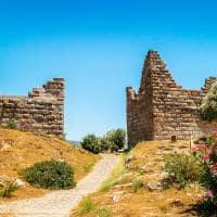 Portões do sítio histórico de Myndos, antiga cidade de Halikarnassos - Bodrum, Turquia