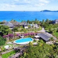 Vista aérea, Kokomo Private Island Resort
