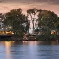 African bush camps thorntree river lodge vista do parque nacional da zambia